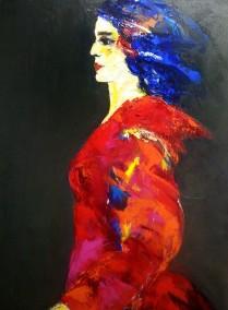 acryl op doek - 70 x 90