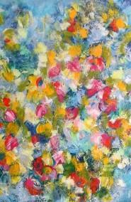 acryl op doek - 100 x 120 -