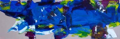 acryl op doek - 50 x 150 -